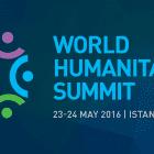 World Humanitarian Summit 2016 logo, text says World Humanitarian Summit 23-24 May 2016 Istanbul, Turkey