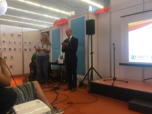 Ambassador for 'SRHR and hiv/aids' Lambert Grijns opens the Disability Networking Zone
